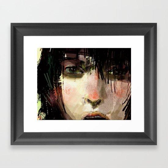 Poster Girl Framed Art Print
