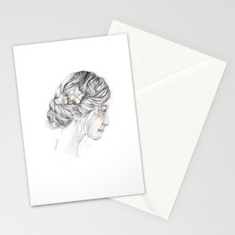 romantic girl Stationery Cards