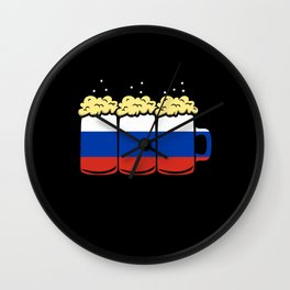Russia Flag Country Beer Brew Gift Wall Clock