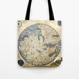 Fra Mauro world map (15th century) Tote Bag