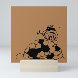 Me and snail and turtle - Loquat tea Mini Art Print