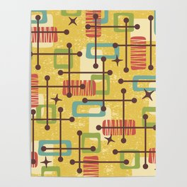 Mid Century Modern Abstract Pattern 773 Poster