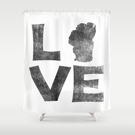 LOVE Tahoe inked Shower Curtain