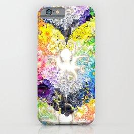 Rainbow Spectrum heart extra dense pattern iPhone Case