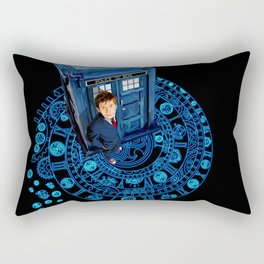 10th Doctor at arch of time zone T-Shirt Rectangular Pillow