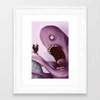 kraken Framed Art Prints featuring Kraken by Jacques Marcotte