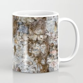 Stone Wall Structure with dried up Plants Coffee Mug
