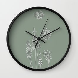 Forest Bathing - Sage  Wall Clock