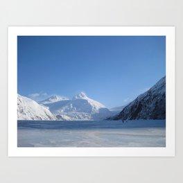 Portage Glacier Art Print