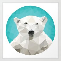 garden Art Prints featuring ♥ SAVE THE POLAR BEARS ♥ by ℳixed ℱeelings