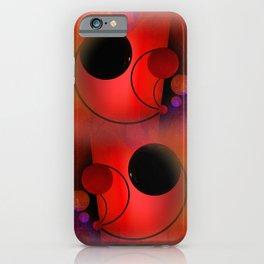 geometric still-life red white black iPhone Case