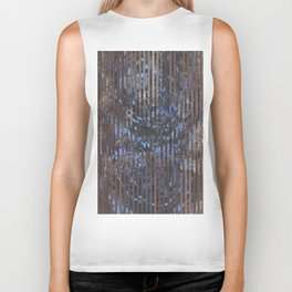 Abstract blue and brown Biker Tank