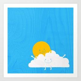 Air Hug. Art Print