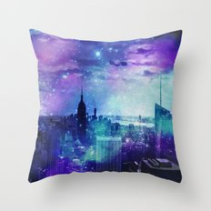 New York Night Throw Pillow