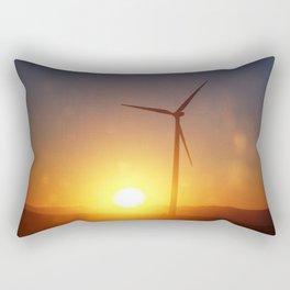 Windmill Sunset Rectangular Pillow