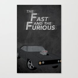 The Fast and the Furious Movie Poster Version II Canvas Print