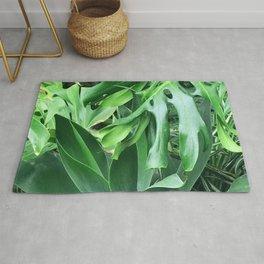 Jungle Palm Leaves Rug