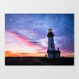 New Years Eve 2017 Sunset at Yaquina Head Lighthouse Canvas Print
