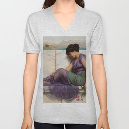 "John William Godward ""Summer Idleness - Day Dreams"" Unisex V-Neck"