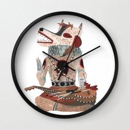 Sitting Wolf Wall Clock
