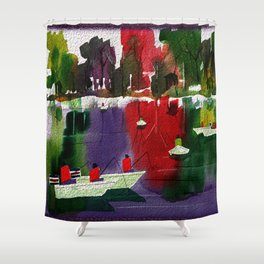 Watercolor Autumn Fishers 2 Shower Curtain