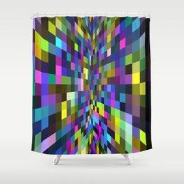 retro color box Shower Curtain