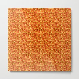 Halloween Pumpkins Seamless textile pattern Metal Print