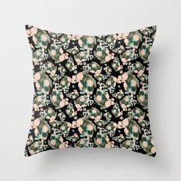 Begoinia Collage Field WKS Throw Pillow