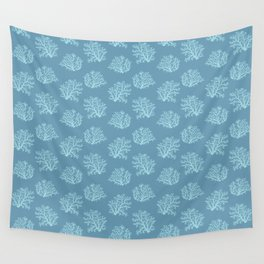 Sea Coral in Blue Wall Tapestry