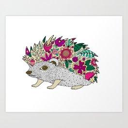Woodland Hedgehog Illustration Art Print