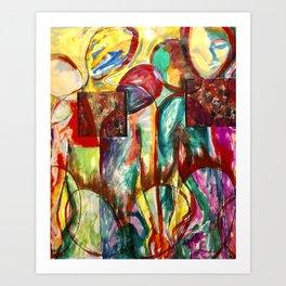 Red People Series 3 No 502 Art Print