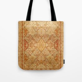 Oversized Antique Turkish Oushak Rug Print Tote Bag
