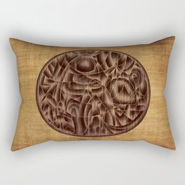 Abstract Wood Carving Pattern Rectangular Pillow