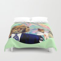 thrones Duvet Covers featuring Darwinism by Laura Nadeszhda