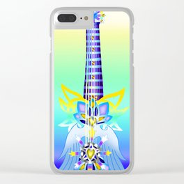 Fusion Keyblade Guitar #74 - Oathkeeper & Ultima Weapon Clear iPhone Case