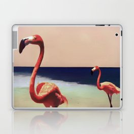 Flamingo beach Laptop & iPad Skin