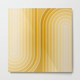 Gradient Curvature VII Metal Print