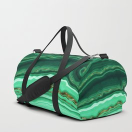 Gold And Malachite Marble Duffle Bag