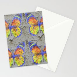 SHABBY CHIC YELLOW & BLUE BUTTERFLIES Stationery Cards