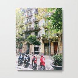 Barcelona scooters Metal Print