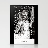 tarot Stationery Cards featuring Justice Tarot by Corinne Elyse