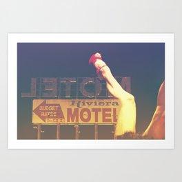 Riviera Motel on Route 66 Art Print