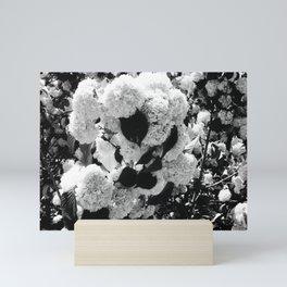 Black and White Snowballs Mini Art Print