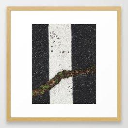 Ashland / Interrupting Asphault Framed Art Print