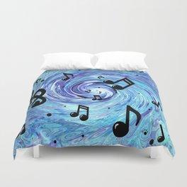 Musical Blue Duvet Cover