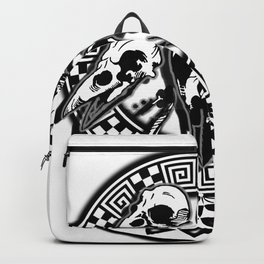 bird skull magic witchy rave party Backpack