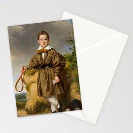 Jan Adam Kruseman - Portret van Jan Philips François van der Vinne Stationery Cards