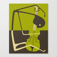cello Canvas Prints featuring Blues' Cello by Jazzberry Blue