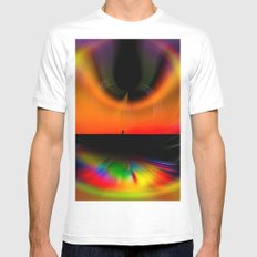 Abstract Perfektion - romance Mens Fitted Tee MEDIUM White