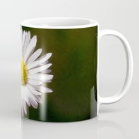 daisy Mugs featuring Daisy by Lori Anne Photography